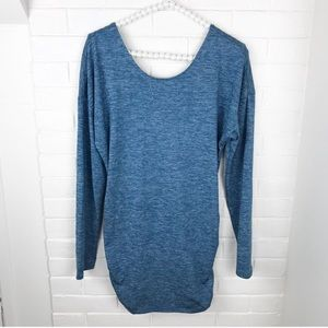 Lucy Dresses - {Lucy} Heathered Blue Athletic Mini Dress/Tunic